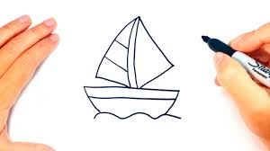 how to draw a little boat little boat easy draw tutorial youtube