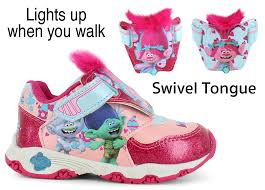 trolls light up shoes trolls poppy i turn girls shoe show 1796599666