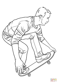 skateboarding coloring page free printable coloring pages
