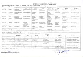 date sheets khyber medical university