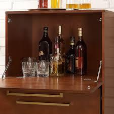 Crosley Furniture Bar Cabinet Crosley Everett Spirit Cabinet Mahogany Hayneedle