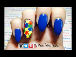 autism awareness nail art design tutorial please subscribe for
