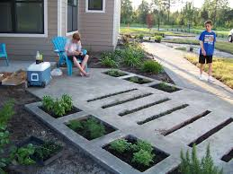 large garden design with cool long pathway and exterior alluring