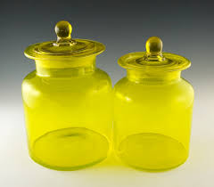 vintage glass canisters kitchen vintage kitchen canister set in lemon yellow retro glass