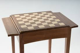 walnut player u0027s chess table frame only discounted for