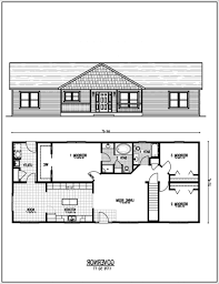 Ranch Floor Plans Basement Rancher House Plans House Interior