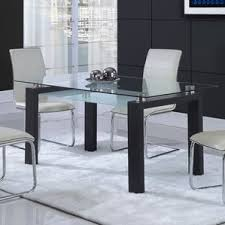 Contemporary Glass Dining Room Sets Glass Kitchen U0026 Dining Tables You U0027ll Love Wayfair