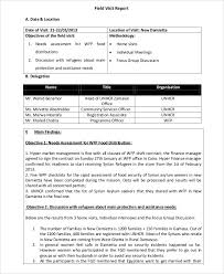 field report template 14 visit report templates free word pdf doc format