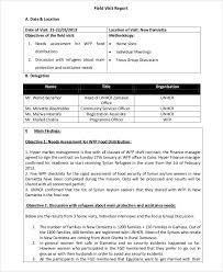 site visit report template 14 visit report templates free word pdf doc format