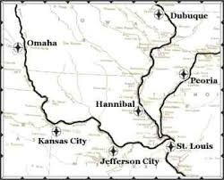 missouri map cities continuously cruising river city port of calls