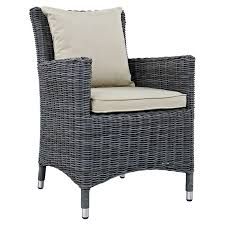 Gray Wicker Patio Furniture by Belham Living Lake Como All Weather Wicker Patio Dining Chair