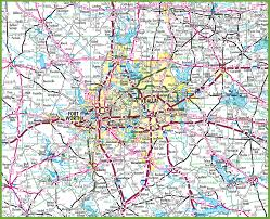 Texas Highway Map Dallas Area Road Map
