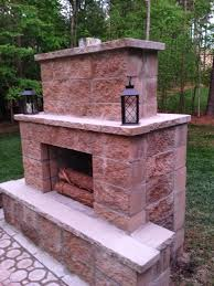 Stacked Stone Outdoor Fireplace - fresh ideas building a outdoor fireplace tasty how to build an