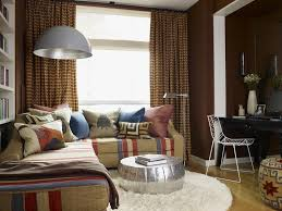 Metallic Leather Family Room Eclectic With Sectional Sofa - Family room lamps