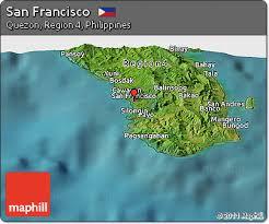 san francisco quezon map free satellite panoramic map of san francisco