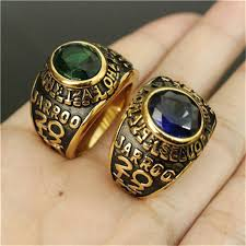 fashion golden rings images 1pc new arrival green blue stone golden ring 316l stainless steel jpg