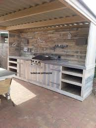 upcycled kitchen ideas upcycled pallets made outdoor kitchen pallet ideas recycled