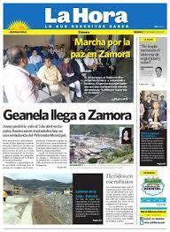 Movimientos Encadenados Mayo 2011 - diario la hora zamora 13 de mayo 2011 by diario la hora ecuador