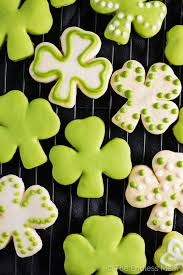 All Natural Flower Food Shamrock Sugar Cookies With All Natural Green Frosting The