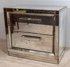 Mirrored Night Stands Decorate Around An Antiqued Mirrored Nightstand U2014 New Decoration