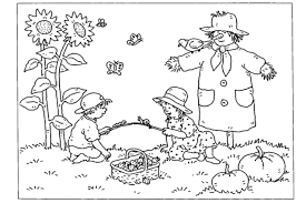 beautiful fall coloring pages for preschoolers pictures throughout