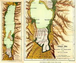 map of the dead tristram map of the dead sea 1866 gilai collectibles