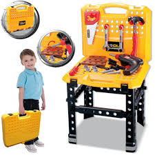 large musical light up pretend workshop tools toy work bench table