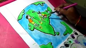 how to draw clean india green india poster color drawing for kids