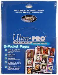 9 pocket pages ultra pro silver 9 pocket pages 1 000 count da card world