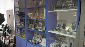 used photography lighting equipment for sale crimea simferopol circa 2018 interior of camera store showcase