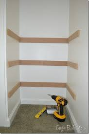 Diy Bookshelves Cheap by Best 25 Diy Closet Shelves Ideas On Pinterest Closet Shelves