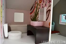 diy dollhouse bathroom furniture part 6 of 6 lansdowne life