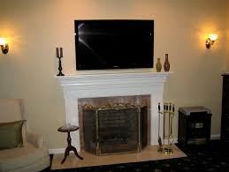 tv above fireplace ideas cable box tv over fireplace cable