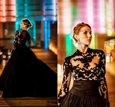 plus size black wedding dresses discount plus size black 2016 wedding dresses with sleeves