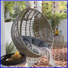 hanging egg chair resin wicker cushion stand porch swing patio
