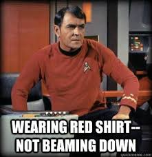 Redshirt Meme - red shirt meme the t shirt