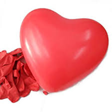 hde 6 heart shaped balloons s day