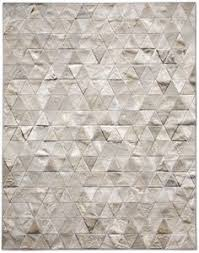 madisons gray parquet pattern patchwork cowhide rug patchwork