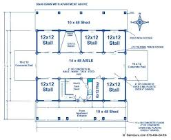 horse barn with apartment floor plans barn plans exle