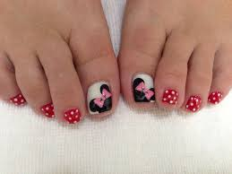 minnie mouse toe nails my job pinterest minnie mouse mice
