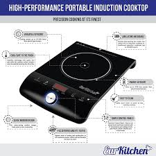Electromagnetic Cooktop Eurkitchen Ek Ic 1 Portable Induction Cooktop U2013 Precision Control