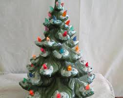 ceramic christmas tree with lights ceramic christmas tree etsy