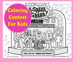 yo gabba gabba coloring contest win tickets macaroni kid