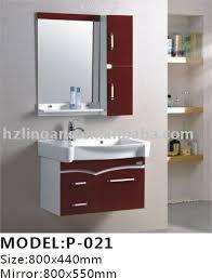 Bathroom Cabinet With Mirror by 800x440mm Modern Pvc Bathroom Cabinets Mirror Washbasin Medicine