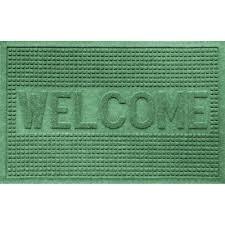 green doormat hometrax coir mat doormat green leaf 18 x 30 target