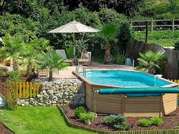 decorative above ground pool landscaping ideas designs ideas and
