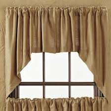 curtains rustic drapes burlap valance curtains window