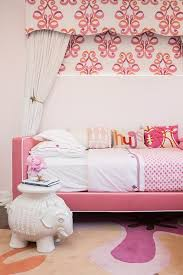 Pink And Orange Bedroom Pink Daybed With Elephant Table Transitional U0027s Room