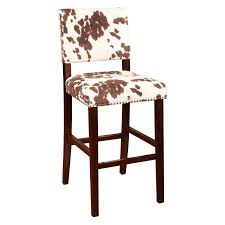 Cowhide Upholstery Linon Corey 30 In Bar Stool Udder Madness Brown Hayneedle