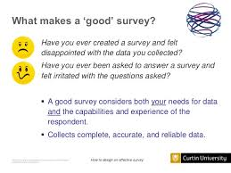 design effect in survey the good the bad and the ugly how to design an effective survey